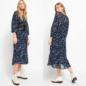 NWT Free People Wallflower Midi Dress